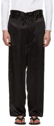 SASQUATCHfabrix. Black Satin High-Waist Trousers