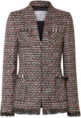 TRE by Natalie Ratabesi - Miller Embellished Metallic Tweed Blazer - Dark gray