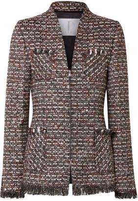 TRE by Natalie Ratabesi - Miller Embellished Metallic Tweed Blazer - Dark gray