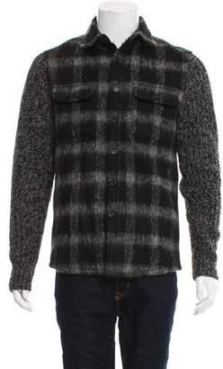Michael Kors Wool Button-Up Jacket