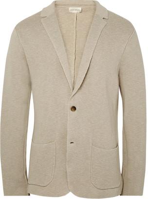 Club Monaco Ecru Knitted Linen and Cotton-Blend Blazer $200 thestylecure.com