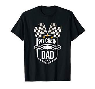 Funny Dad Pit Crew T-shirt for Race Car Parties