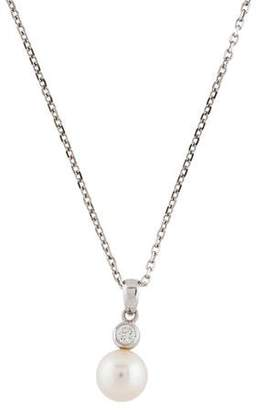 Mikimoto 18K Pearl & Diamond Pendant Necklace