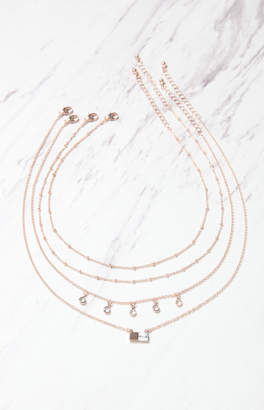 La Hearts Layered Marble Necklace
