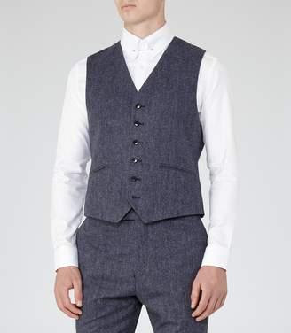 Reiss Tanaka W - Modern Tailored Waistcoat in Indigo