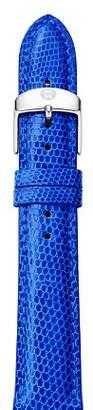 Michele Cobalt Lizard Embossed Strap, 18mm