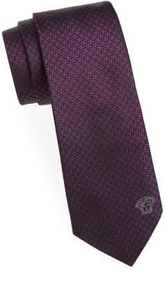 Versace Men's Houndstooth Silk Tie