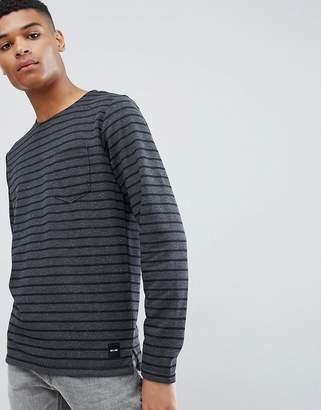 ONLY & SONS Striped Long Sleeve Crew Neck Top