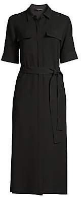 Lafayette 148 New York Women's Doha Crepe Belted Shirtdress