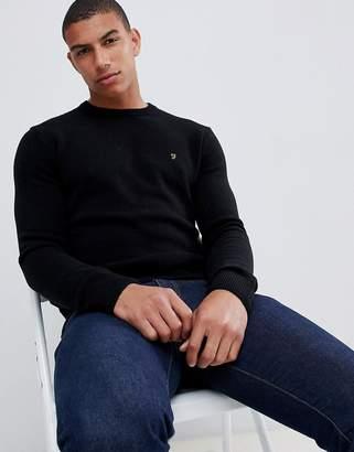 Farah Rosecroft crew neck sweater in black
