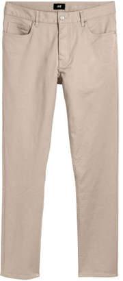 H&M Twill Pants Slim fit - Beige