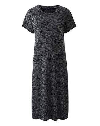 Fashion World Mid Grey Side Split Space Dye Tunic