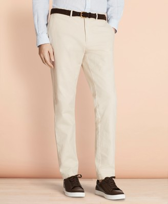Brooks Brothers Slim-Fit Garment-Dyed Cotton-Linen Stretch Chinos