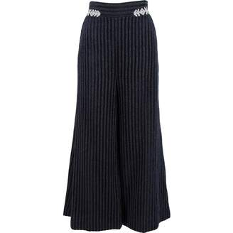 Peter Pilotto Navy Polyamide Trousers