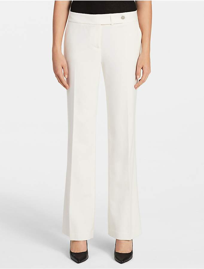 Calvin Klein Essential Straight Cream Suit Pants