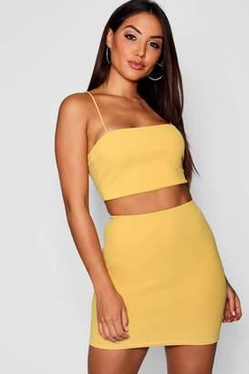 boohoo Strappy Crop + Mini Skirt Co-Ord Set