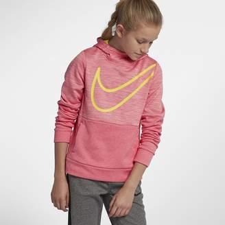 Nike Dri-FIT Therma Big Kids' (Girls') Pullover Training Hoodie