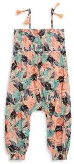 Jessica Simpson Little Girl's Tropical-Print Romper