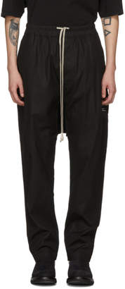 Rick Owens Black Patched Drawstring Lounge Pants