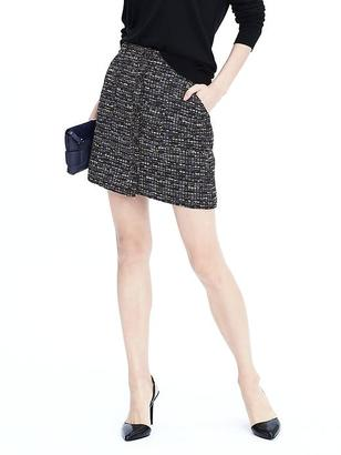 Button Down Textured Mini Skirt $88 thestylecure.com