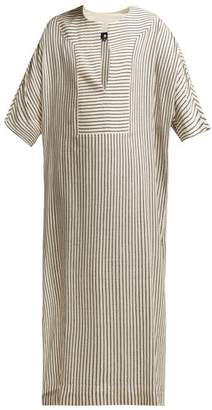 Su - Tia Striped Kaftan - Womens - Grey Stripe