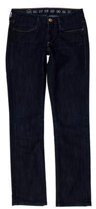 Earnest Sewn Low-Rise Straight-Leg Jeans