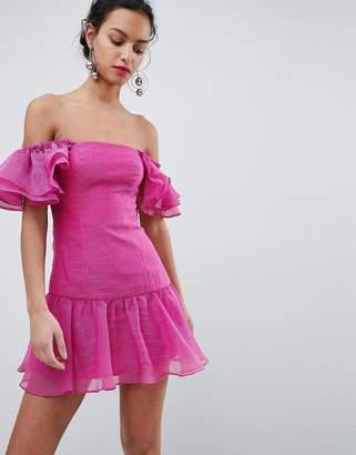 Keepsake ruffle mini dress