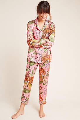 Karen Mabon Tiger Blossom Silk Sleep Pants