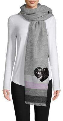 Lord & Taylor Sequin Heart Graphic Wrap