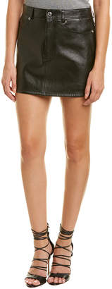 Helmut Lang Tailored Leather Mini Skirt