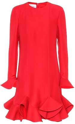 Valentino Virgin wool and silk flounce dress