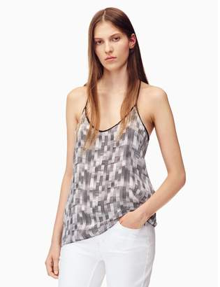 Calvin Klein printed sueded cami top