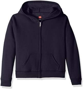 Hanes Big Girls' ComfortSoft EcoSmart Full-Zip Fleece Hoodie,XL