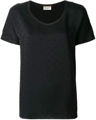 Saint Laurent Fil Coupé T-shirt