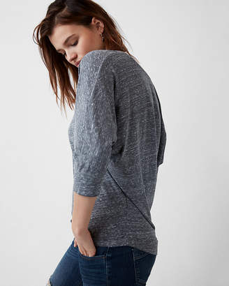 Express Petite One Eleven Scoop Neck Relaxed Dolman Tee