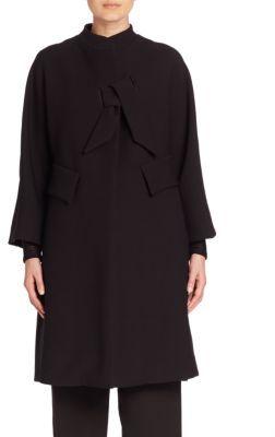 Armani Collezioni Crepe Tie Coat $1,895 thestylecure.com