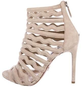 Prada Suede Multi-Strap Sandals