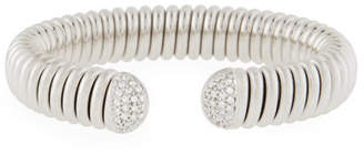 Milani Alberto 18k White Gold Flex Cuff Bracelet w/ Diamonds