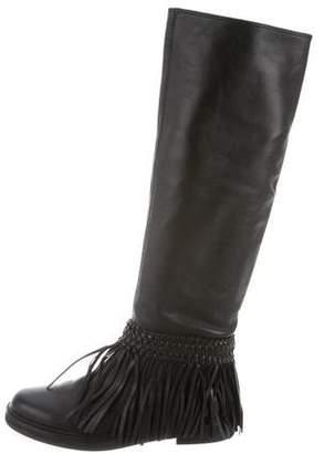 Pierre Balmain Fringe Knee-High Boots