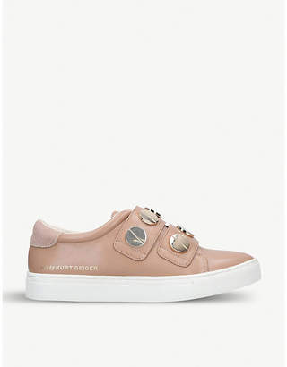 Kurt Geiger Linti faux-leather trainers
