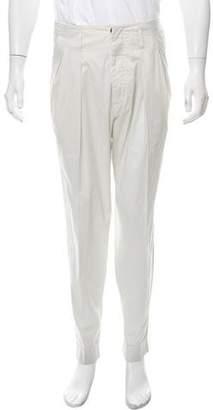 Giorgio Armani High-Rise Flat Front Pants