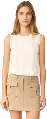 Theory Lewie Sleevless Top $245 thestylecure.com