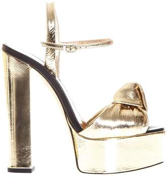 Giuseppe Zanotti Barbra Metallic Leather Sandals