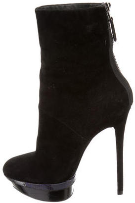 Brian Atwood Suede Platform Ankle Boots $175 thestylecure.com