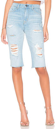 Hudson Zoeey High Rise Cut Off Boyfriend Short.