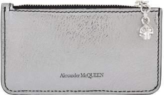 Alexander McQueen Leather Skull Charm Card Holder