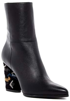 Donald J Pliner Vanti Embroidered Heel Boot