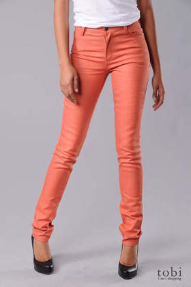 Cheap Monday Tight Skinny Jeans in YD Orange
