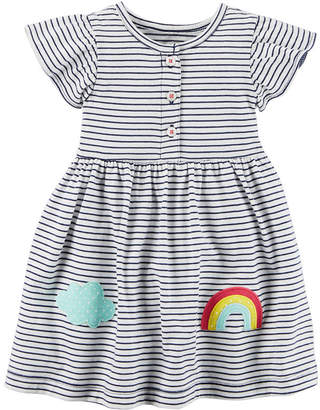 Carter's Flutter Sleeve A-Line Dress - Baby Girls