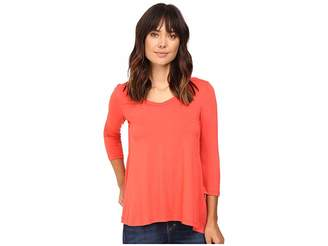 Karen Kane Shirred Contrast-Back Top Women's Clothing